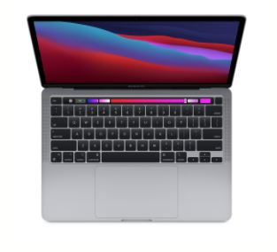 Apple MacBook Pro: Apple M1 chip with 8 core CPU and 8 core GPU, 512GB SSD - Space Grey
